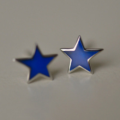 Flyleaf New Arrival Blue Star 925 Sterling Silver Stud Earrings For Women Fashion Girl Sterling-silver-jewelry