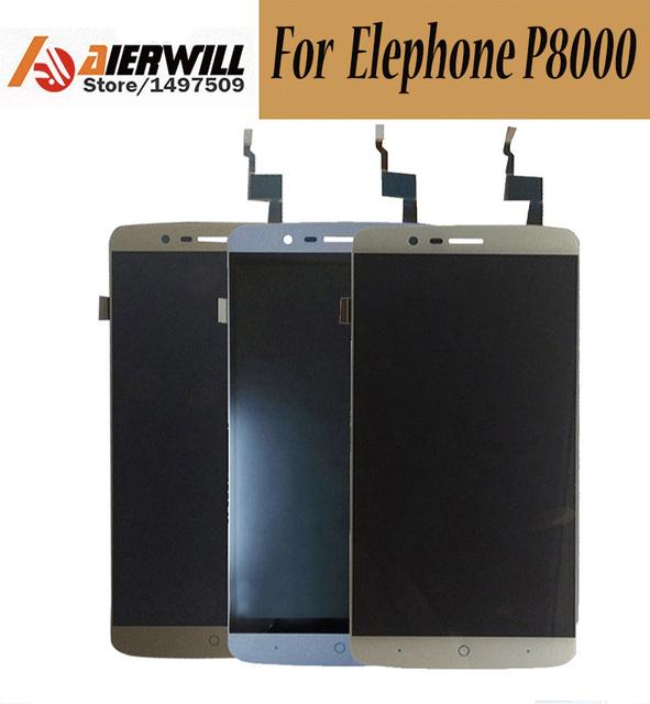 100% NUEVO Para Elephone P8000 LCD Display + Touch Screen Asamblea Digitalizador Reparación del Reemplazo Accesorios para Elephone P8000