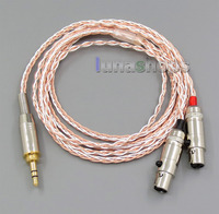LN005399 800 Wires Soft Silver + OCC Alloy Teflon AFT Earphone Headphone Cable For Audeze LCD 3 LCD3 LCD 2 LCD2