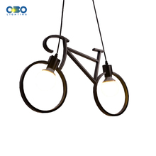 Nordic Modern Iron Bicycle Chandelier Retro Cafe  Creative Childrens Room Bedroom Personality Pendant Lamp Indoor lighting