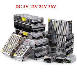Трансформаторы освещения DC 5 В 12 В 24 В 36 В Питание адаптер 5 12 24 36 В 1A 2A 3A 5A 6A 8A 10A 15A 20A светодио дный драйвер Светодиодные ленты лаборатории
