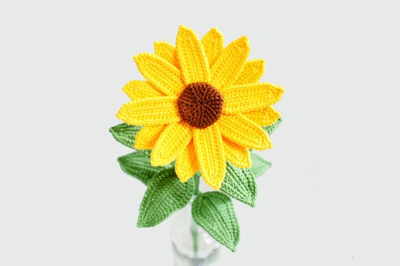 Amigurumi  Sunflower For Disply At Baby Home