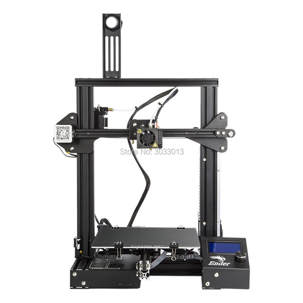 2018 Ender-3 3D Printer Large Print Size 220*220*250mm Ender 3/Ender-3X Removable Bed i3 Continuation Print of Power Failure hot pre sale creality 3d ender 3 large print size 220 220 250mm prusa 3d printer diy kit heated bed resume power off function