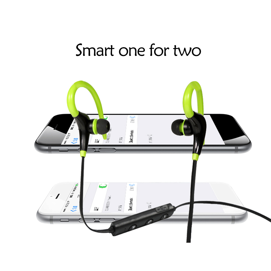 Wireless Bluetooth Earphone Cordless Headphone with Mic Running Sports Portable Neckband Headsets for ios Andriod Mobile Phone 6