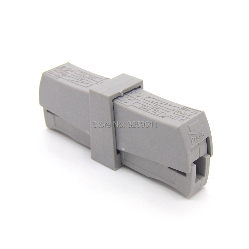 20PCS PCT-201 (wago 224-201) wire wiring connector Universal 1 Way Spring quick Connector cable clamp Terminal Block