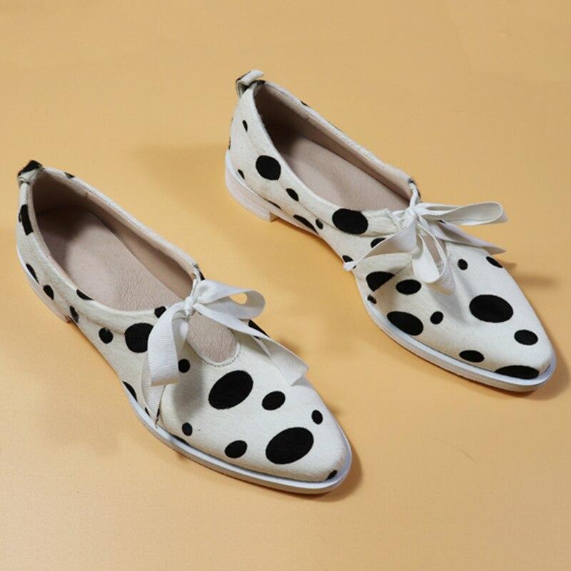 여성 플랫 옥스포드 신발 말 머리 가죽 플랫 옥스포드 숙녀 brogues 빈티지 캐주얼 옥스포드 신발 여성 신발-에서여성용 플랫부터 신발 의  그룹 1