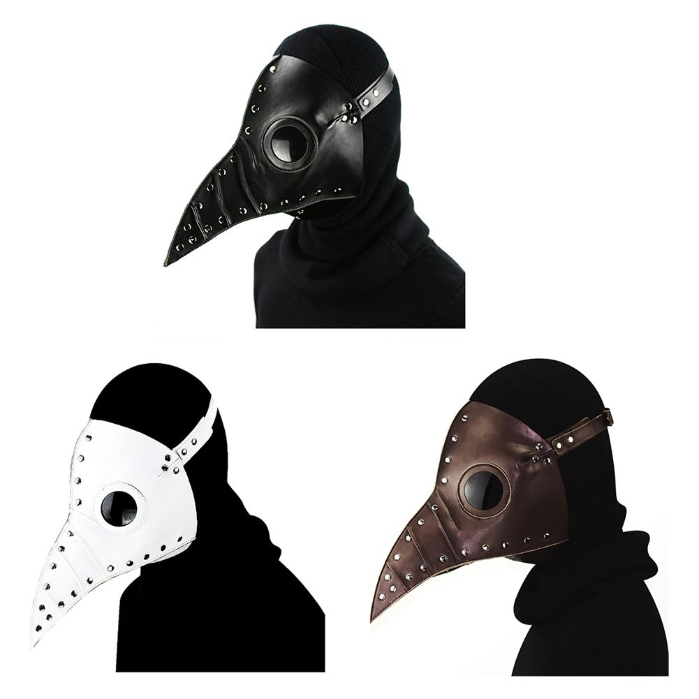 1 x Plague Doctor Mask Beak Doctor Mask Long Nose Cosplay Fancy Mask Plague Doctor Gothic Retro Rock Leather Halloween Beak Mask