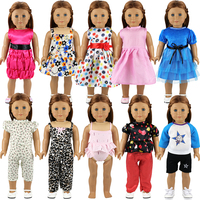 New 10 Items/Set 18 Inch Clothes Set Fit 43cm Baby Doll For America Girl Our Generation Dress The Children Accessories Kids Gift