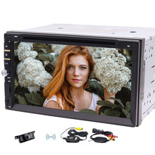 """Eincar Wireless Camera Double Din Car Stereo In Dash DVD Player 7"""" Capacitive Touch Screen Car Radio MP5 Player Blueooth USB/TF"""