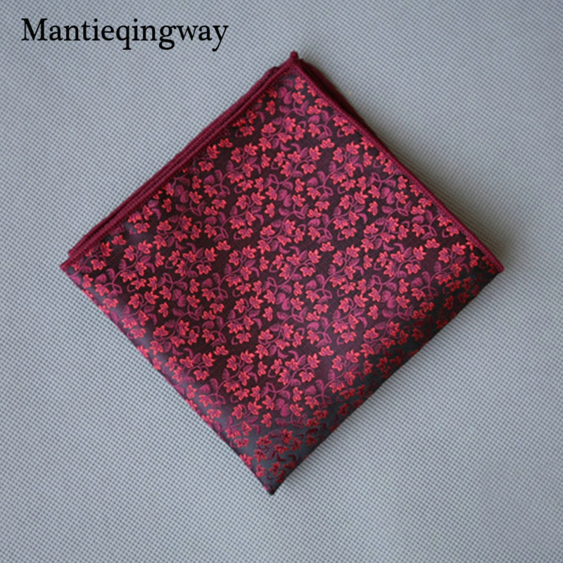 Polyester Handkerchief For Mens Suits Business Floral Printed Pocket Square Pocket Towel Black Hanky Hankies