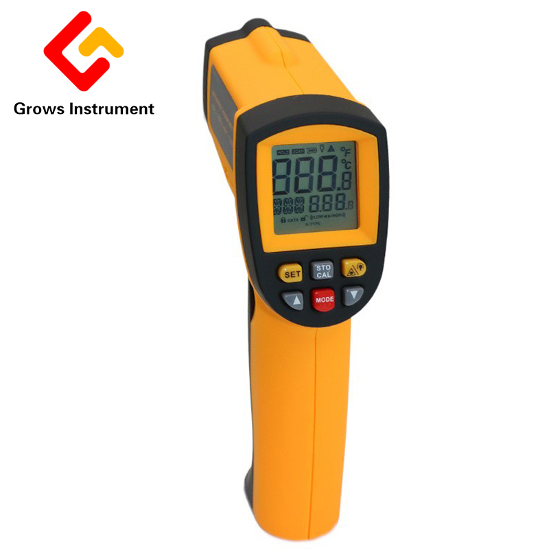 GM700 LCD Digital IR Infrared Laser Thermometer Temperature Meter Gun Point -50~700 Degree Non-Contact Thermometer Adjustable