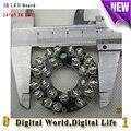 Led infravermelho combinado 24xf5 placa IR LED para câmeras de CCTV night vision IP/AHD/SDI/TVI/motherboard câmera CVI E pequeno tamanho da lente