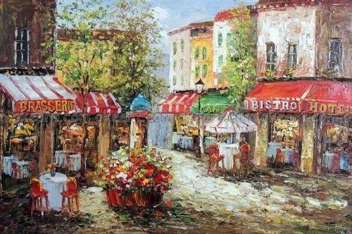 100 Hand Painted Paris French Restaurant Sidewalk Tables