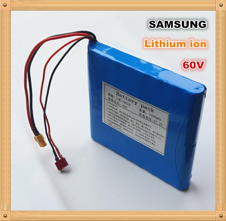 100% D'origine pour SAMSUNG 60 v 132WH Dynamique Li-ion Rechargeable Batterie 2200 mah pour Électrique monocycles, e-scooters Banques D'alimentation