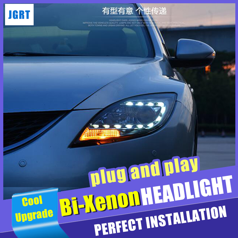 new head lamps car Styling For <font><b>Mazda</b></font> <font><b>6</b></font> <font><b>headlights</b></font> 2008-2013 For <font><b>Mazda</b></font> M6 bi <font><b>xenon</b></font> lens h7 <font><b>xenon</b></font> hid kit led drl head light image