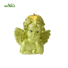 Three-dimensional Handmade Silicone Thinking Angel Shaped Mould For Candle Soap and Chocolate