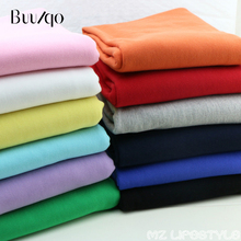 Buulqo 50*185cm 100% cotton terry fabric DIY sewing handmade cotton knitted fabric for summer sweater cloth sportswear fabrics