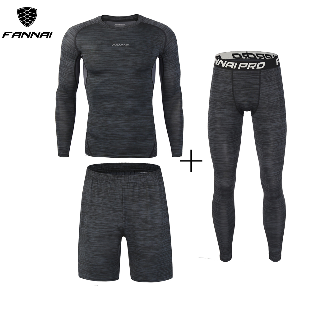 New 3Pcs Running Set Mens Quick Dry Men Compression Sport Suit Fitness Tight Gym Clothing Jogging Suit Workout Mens Sportswear-in Running Sets from Sports & Entertainment on AliExpress