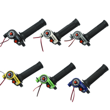 1 Pair 22mm 7/8 Motorcycle Twist Throttle Grip with Cable handlebar Accelerator Engine On/Off Button for Honda Yamaha