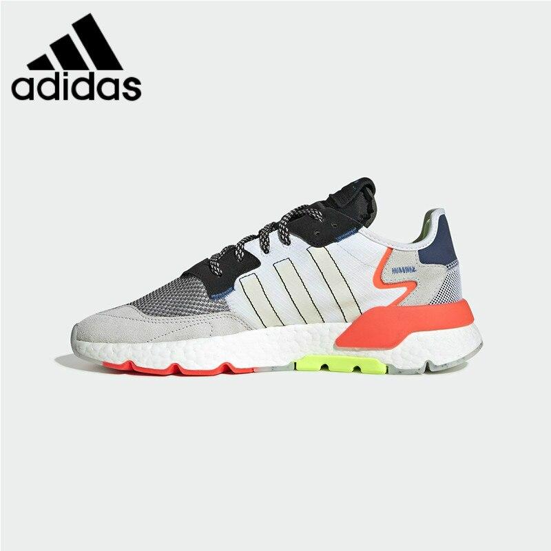 Survêtement Original authentique Adidas Nite unisexe chaussures de course mode tendance chaussures de sport réfléchissantes 2019 printemps nouveau EF8718