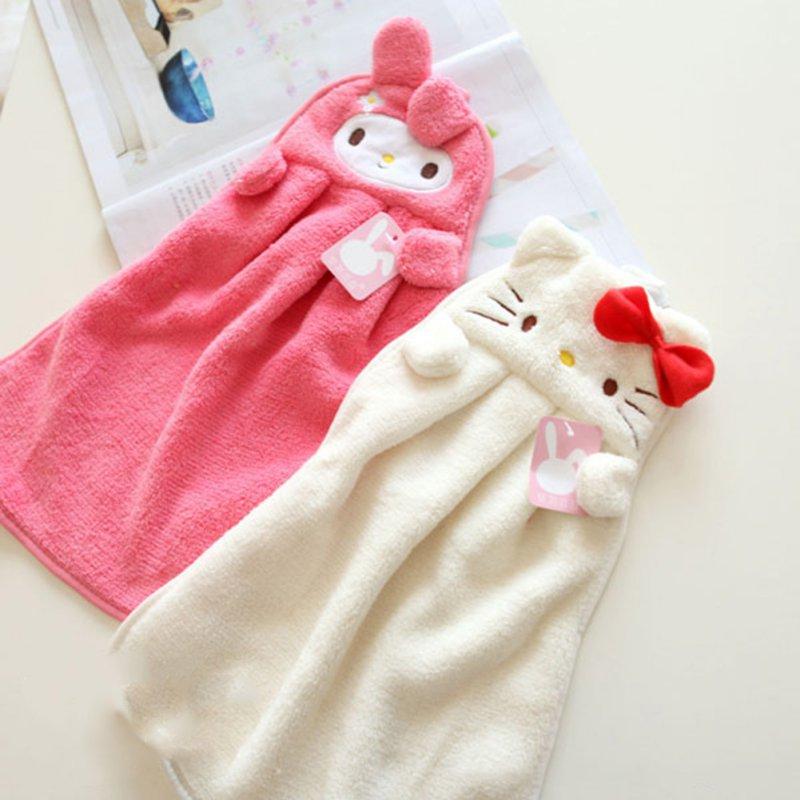 Cartoon Baby Wipe Sweat Hung Towel Towel Super Soft Coral Fleece Kid Child Towel