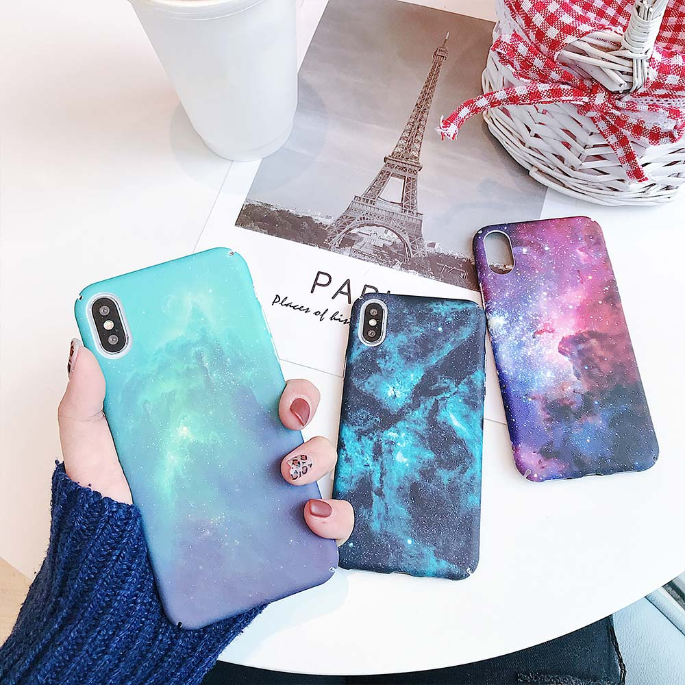 KISSCASE Starry Sky Phone Case For Samsung <font><b>Galaxy</b></font> A50 A30 A6 A7 A8 A9 2018 A3 A5 2017 S7 S8 S9 <font><b>S10</b></font> Plus Luminous PC Back Cover image
