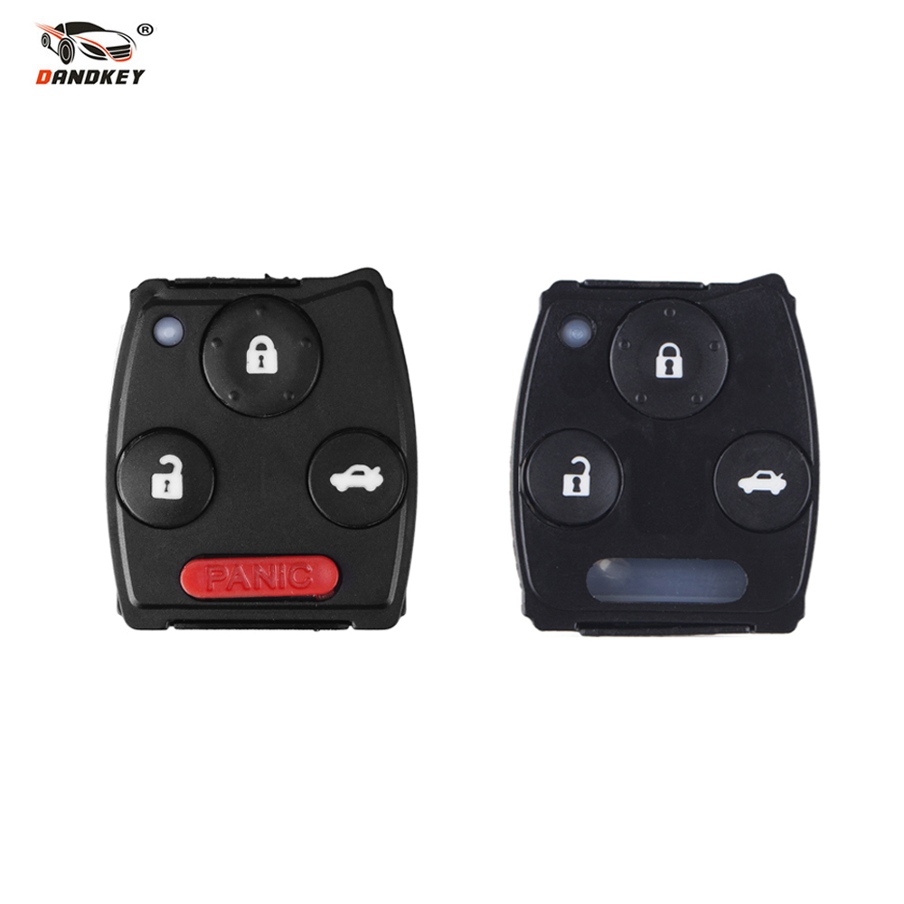 Dandkey For Honda Accord Civic CR-V Pilot 2 3 4 3+1 Buttons Rubber Pad Fob Replacement Car Remote Rubber Pad Remote Key Shell