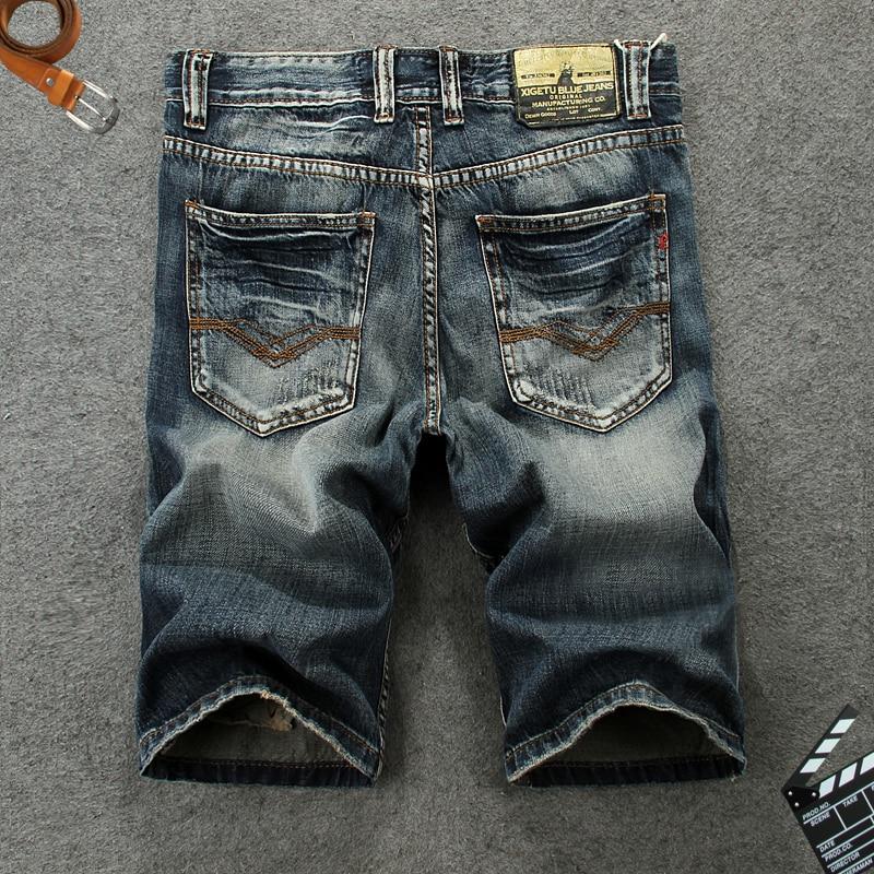 Italian Style Fashion Mens Jeans Shorts High Quality Vintage Retro Designer Classical Short Ripped Jeans Brand Denim Shorts Men