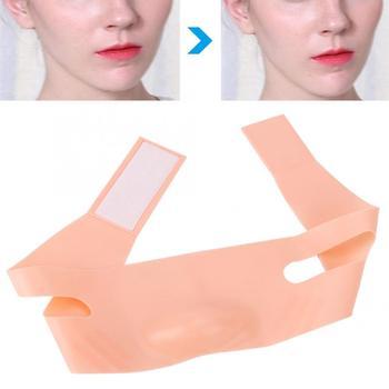Masażer do twarzy twarzy odchudzanie podnoszenia maska cienka twarz bandaże V-twarz pasy do podnoszenia pasek rolka jadeitowa tanie i dobre opinie Hand made Face Slimming Bandages Brak elektryczne FILFEEL Silicone Nose Shaper