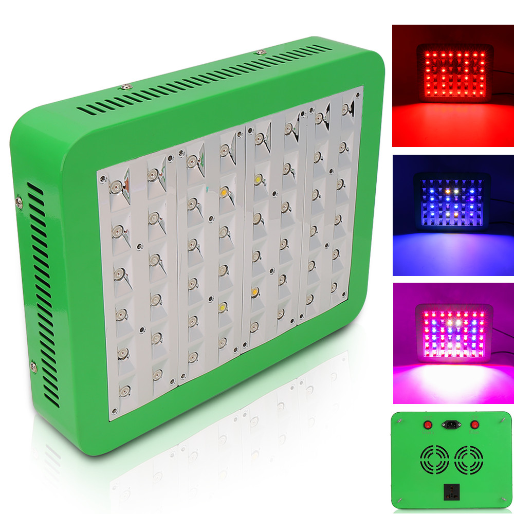 Switchable LED Grow Light 300W Full Spectrum Grow Lamp AC85~265V For Indoor Plant Greenhouse Hydroponic Seeding Flowering Growth настольный компьютер dell optiplex 5050 mt black silver 5050 8299 intel core i7 7700 3 6 ghz 8192mb 1000gb dvd rw intel hd graphics ethernet windows 10 pro 64 bit