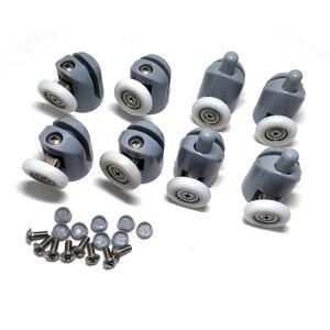 Wysokiej jakości 4 pary prysznicowe Swing drzwi obudowy walce ręcznie prowadzone/prowadnice/koła/koła pasowe przesuwane drzwi na rolkach