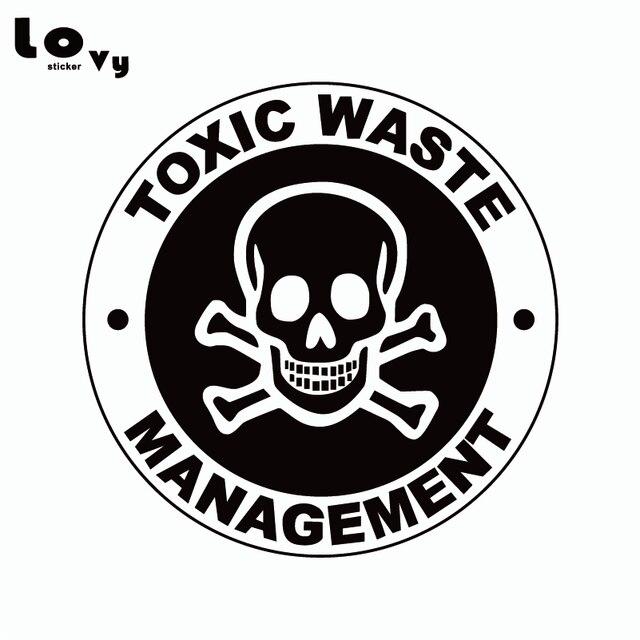 toxic waste management vinyl car sticker personality cartoon warning