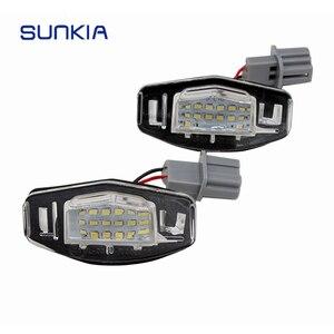 SUNKIA 2 шт./компл. горячая Распродажа светодиодные номерные знаки для Honda Accord/Civic/City/Odyssey/MR-V/Pilot с Fullly OEM Plug