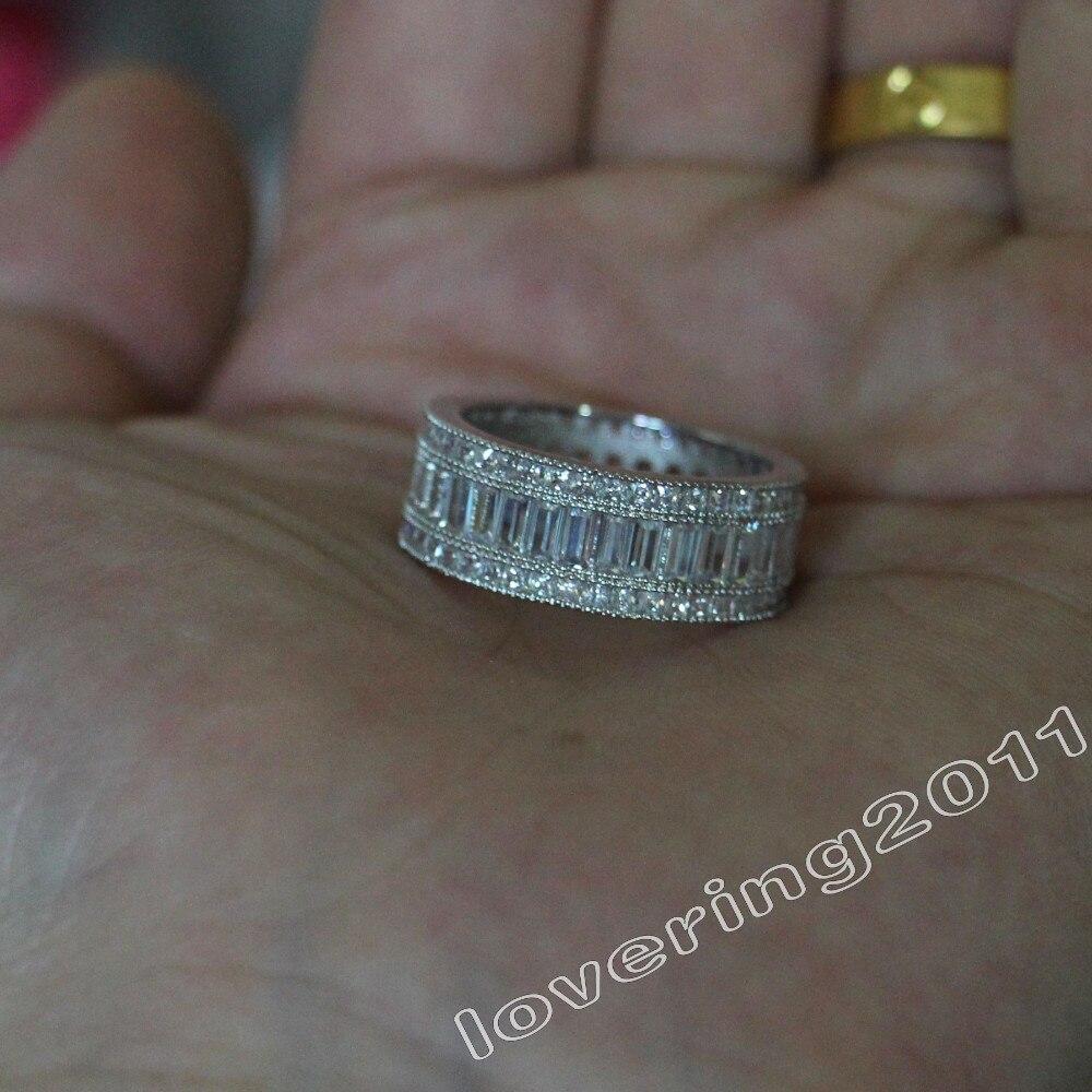 luxo 10kt ouro branco preenchido gf feminino