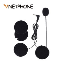 2016 New Cascos Para Moto Motorcycle Intercom Accessories 3.5mm Jack Microphone Speaker Earphone Replacement for Vnetphone V6