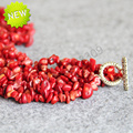 New For Necklace 6-14mm Natural Irregular Gift Red Coral Necklace women girls beads jade 18inch Jewelry making design wholesale