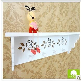 Farmhouse style wood wall shelf decor household creative key box - Home Decor - Photo 4