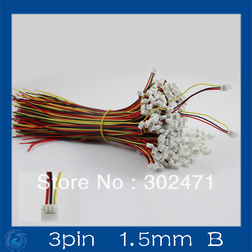 Mini. Micro JST 1.5mm T-1 3-Pin Connector W/.Wire X 10 Sets.3pin 1.5mm B