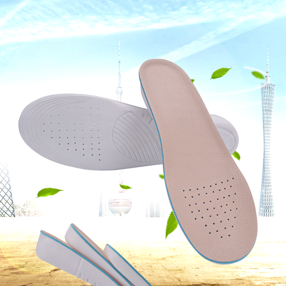 Unisex Height Increase Insoles Natural pigskin Shoes Lift Orthotics Insole adjustable light weight Insert Pads 1.5cm 2.5cm 3.5cm