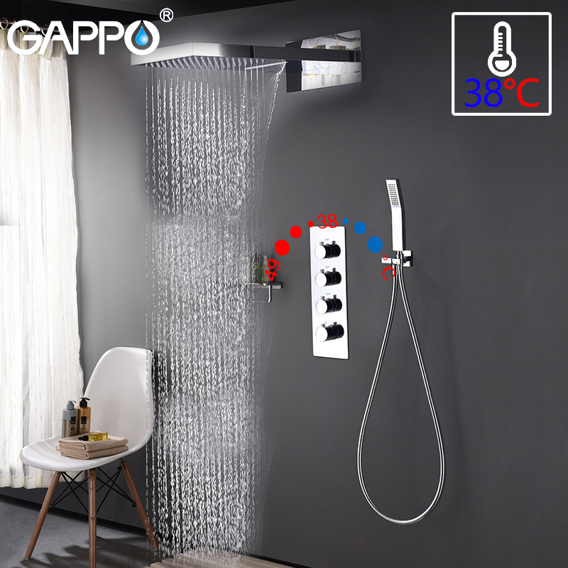 GAPPO shower faucet bathtub shower faucet bathroom mixer taps bath faucet Waterfall Bath tub taps bath shower set shower tap sys roses print bath waterproof shower curtain