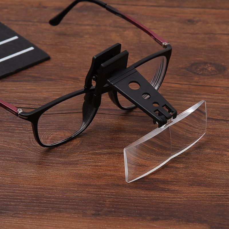 1,5x 2,5x 3,5x összecsukható szemüvegcsipesz flip-nagyítóval - Mérőműszerek - Fénykép 3