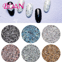 12 Colors Marble Glitter Nail Jewelry Nail Decals Flakies Glitter Powder Design 3D Decorations For Nail