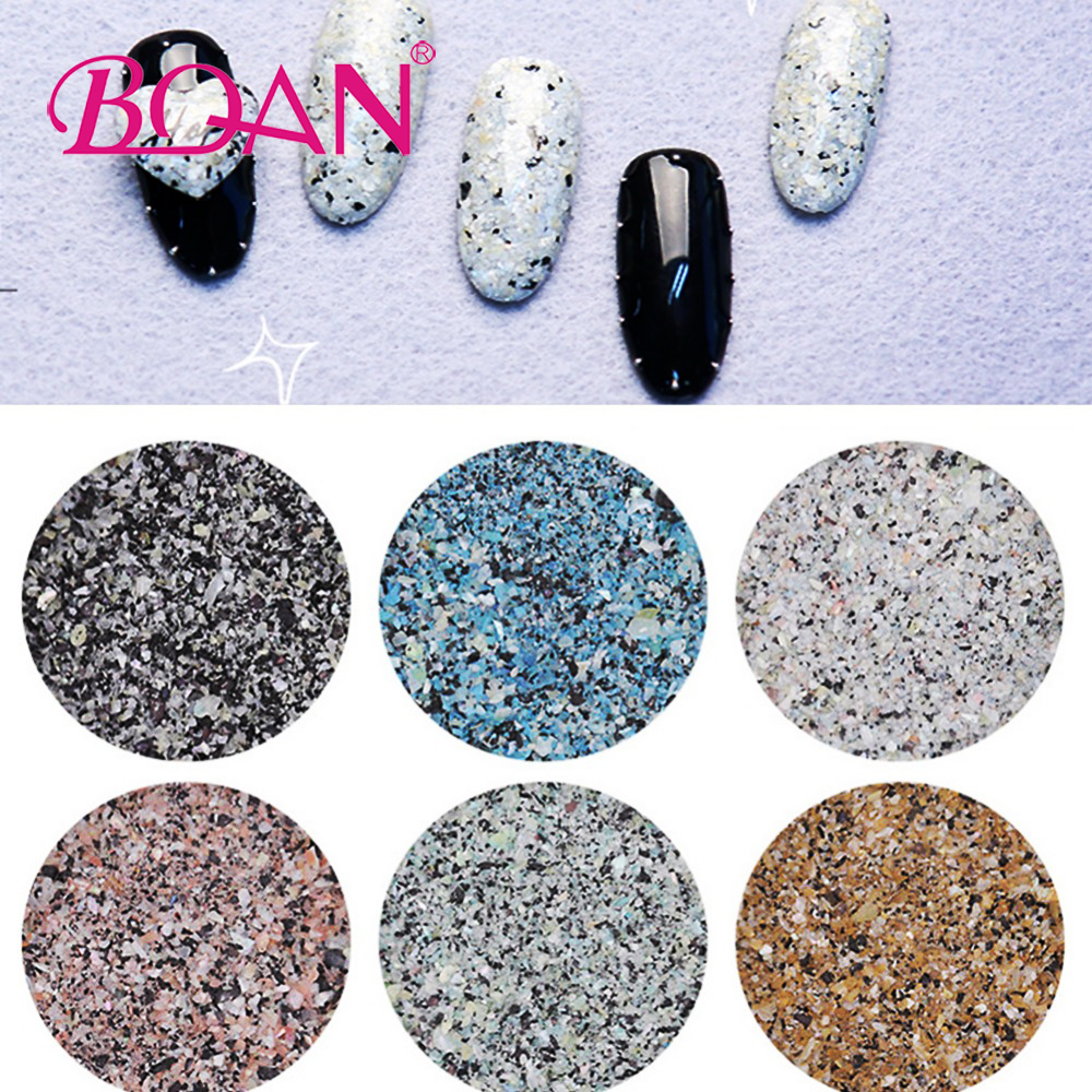 12 colors Marble Glitter Nail Jewelry Nail Decals Flakies Glitter Powder Design 3D Decorations for Nail Gel Polish Accessory2017 1kg 3mm round dots glitter powder for nail polish or gel selectable glitter in bulk dot glitter silver gold loose wholesale