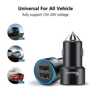Image 5 - Tiegem cargador USB doble 3.1A para coche, cargador de Metal para teléfono móvil, Cargador USB para coche, 2 puertos de carga automática para adaptador Samsung y iPhone