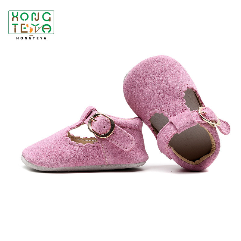 2020 Baby Shoes Genuine Leather T-bar Mary Jane Infants Toddler Baby Princess Ballet Shoes Newborn Crib Shoes Soft Sole