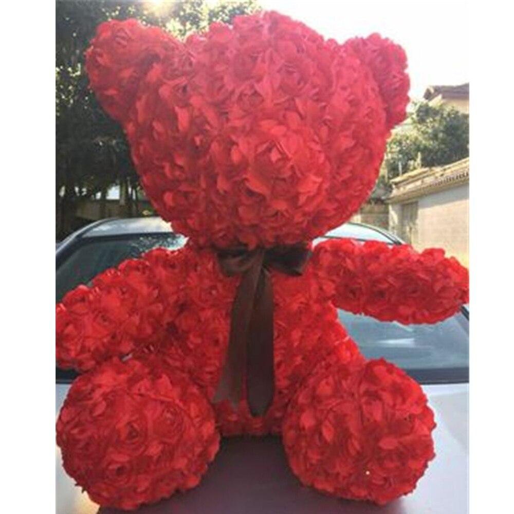 Fancytrader красная Роза плюшевый медведь игрушка хорошее качество большой медведь плюшевая кукла 70 см 28 дюймов для детей взрослые подарки - 4