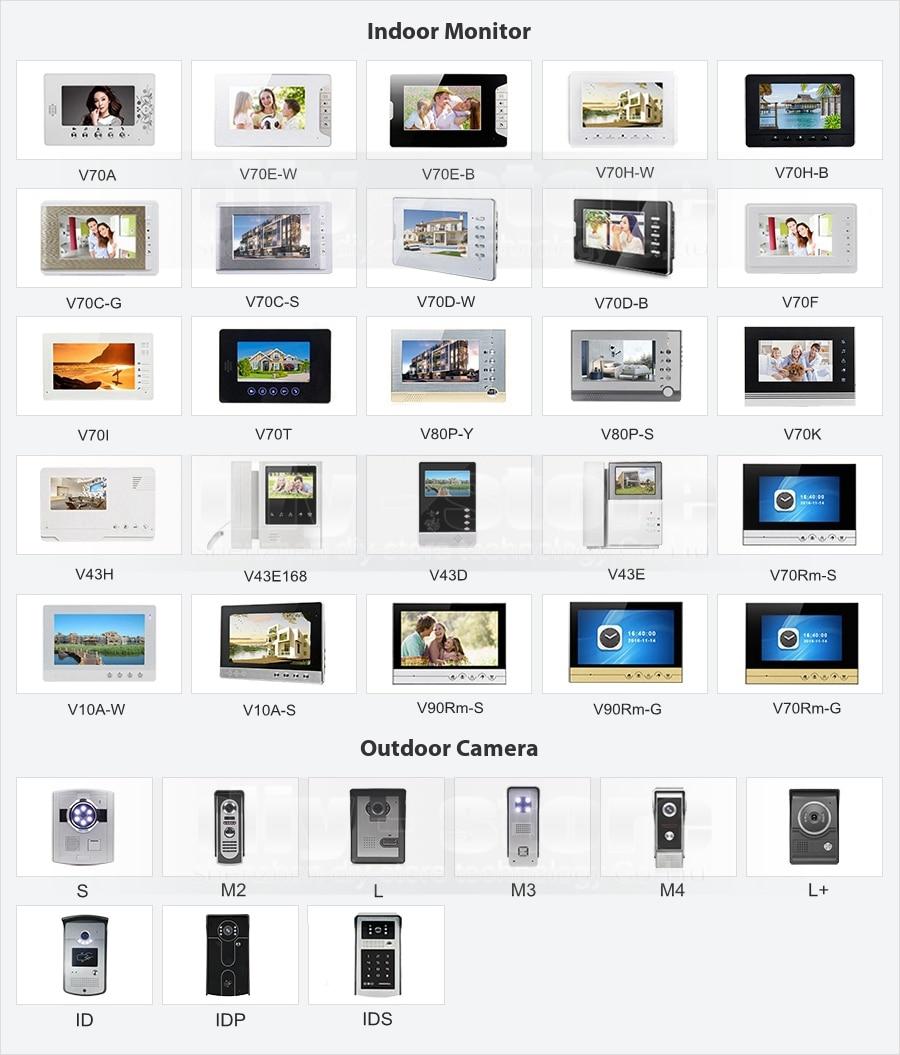 DIYSECUR 7″ Video Doorbell Intercom Door Phone Video&Audio Remote Unlocking Night Vision Camera 700TVL 1V2