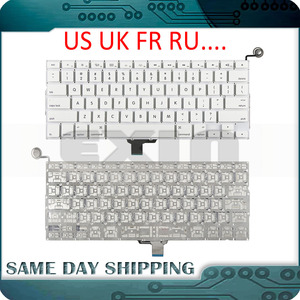 """Image 1 - New A1342 Keyboard US USA English UK French Russian Keyboards for Apple Macbook 13"""" inch Unibody White A1342 US Keyboard Year"""