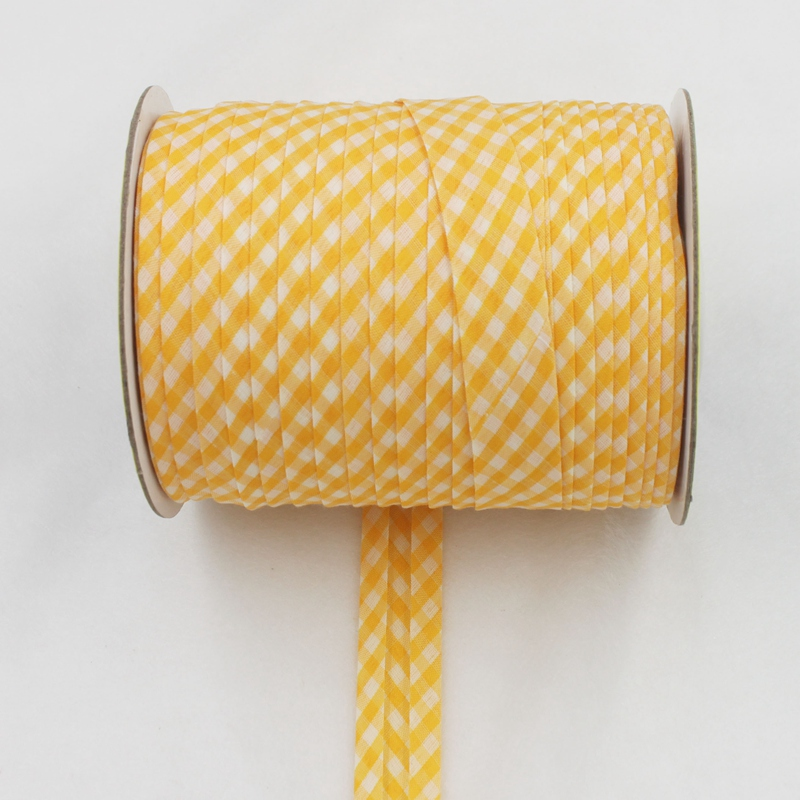 Полиэстер 3/4 (20 мм) проверьте скотч решетки смещения лента косая бейка резки в сложенном виде ленты для DIY пошив и отделка 25yard/roll