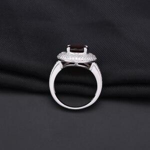 Image 3 - פנינה של בלט 3.15Ct טבעי אדום גרנט חן טבעת 925 כסף סטרלינג אירוסין קוקטייל טבעות לתכשיטי נשים